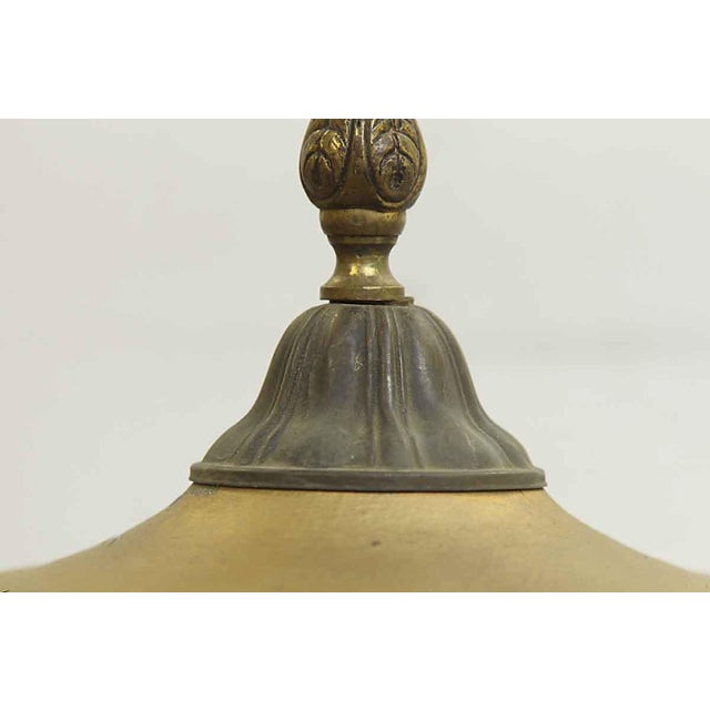 Traditional Orange Slag Glass & Brass Lantern For Sale - Image 3 of 8