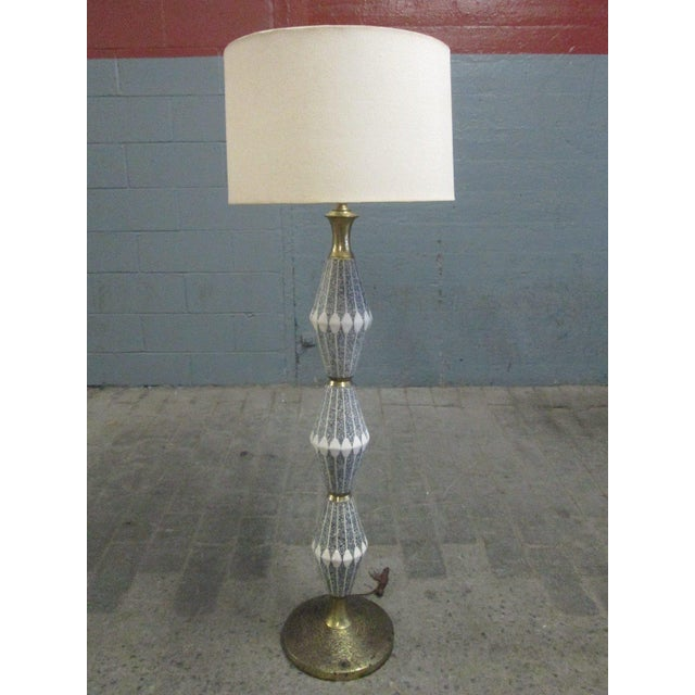 Unique Ceramic and Brass Floor Lamp by Gerald Thurston for Lightolier - Image 6 of 6