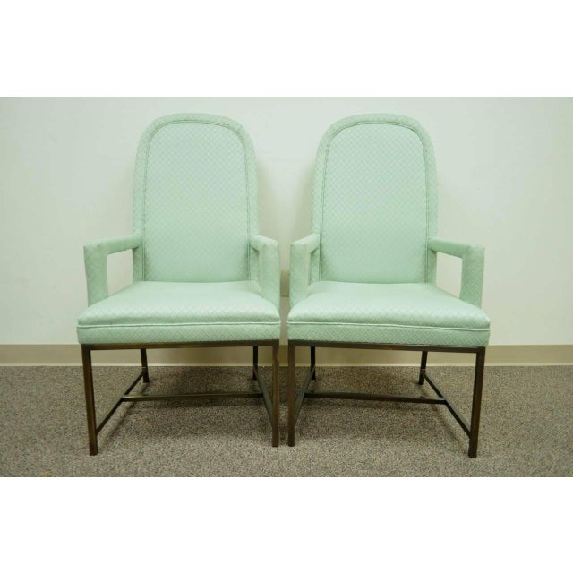 1970s Modern Upholstered Arm Chairs - a Pair For Sale - Image 10 of 10
