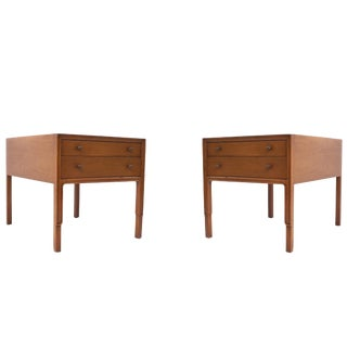 1960s Vintage John Stuart for Mt. Airy Mid-Century Modern Mahogany Nightstands For Sale
