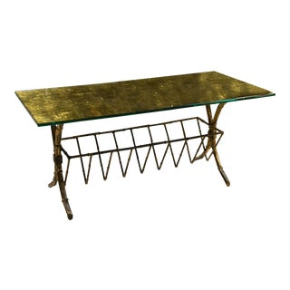 Hollywood Regency Style Gilt Brass Coffee Table