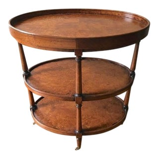 English Traditional Acquisitions by Henredon Chaunay Burl Wood Side Table For Sale