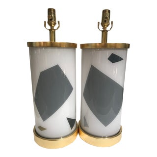 Liz Marsh Designs Paris Now Lamps - a Pair For Sale
