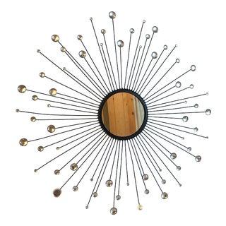 Mid-Century Modern Starburst Wall Mirror For Sale