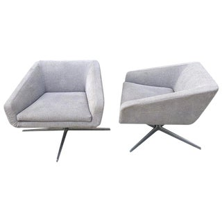 "Pair of Lievore Altherr Molina ""Cubica"" Swivel Chairs by Verzelloni, Italy For Sale"