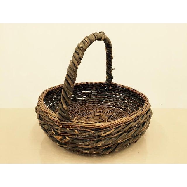 Woven Gathering Basket : Vintage woven gathering basket chairish