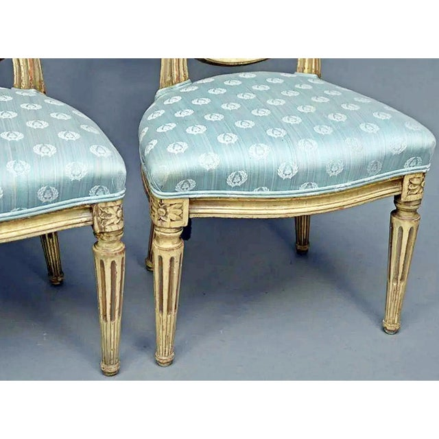 Late 19th Century Antique Petite Louis-XVI Type French Chairs - a Pair For Sale - Image 5 of 9