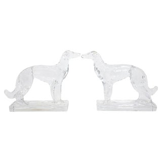 Russian Wolfhound Bookends For Sale