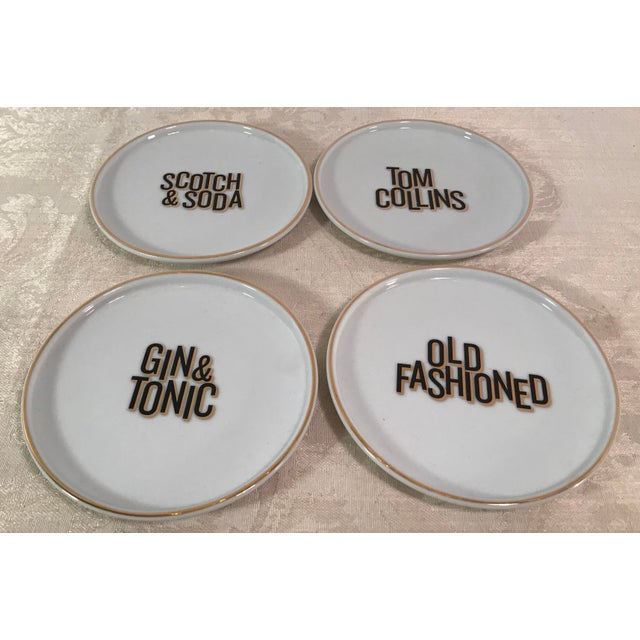 Mixed Drink Ceramic Coasters - Set of 4 For Sale In Dallas - Image 6 of 10