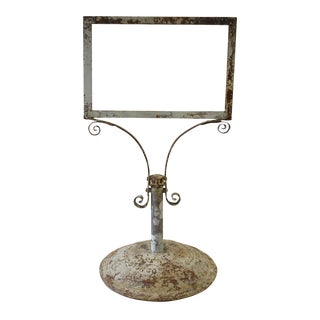 Antique Cast Iron Sign Stand