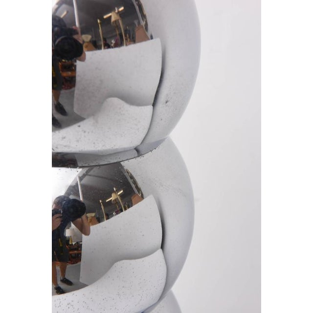 Pair of Kovacs Stacked Chrome Ball Lamp, 1970s, Usa For Sale - Image 9 of 9
