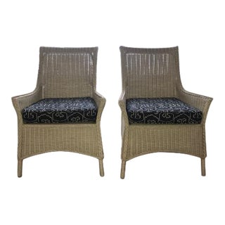 Moder Summer Home Wicker Chairs- a Pair For Sale