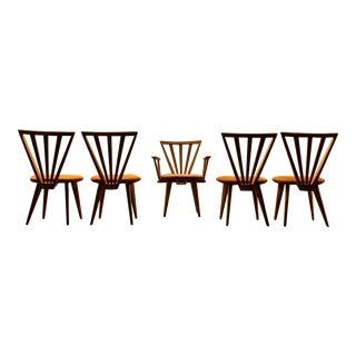 Mid Century Dining Chairs - Set of 5 For Sale