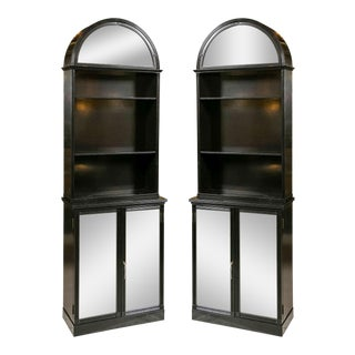 Jansen-Attributed Glass Dome Cabinets - A Pair