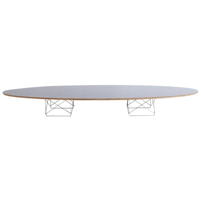 Eames Surfboard Coffee Table.Eames For Herman Miller Black Elliptical Surfboard Table