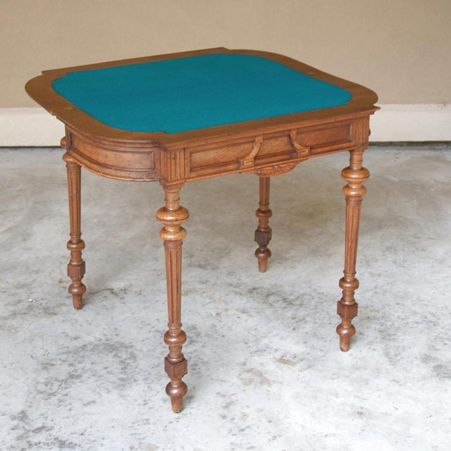 Brown 19th Century French Henri II Walnut Game Table ~ Console For Sale - Image 8 of 13
