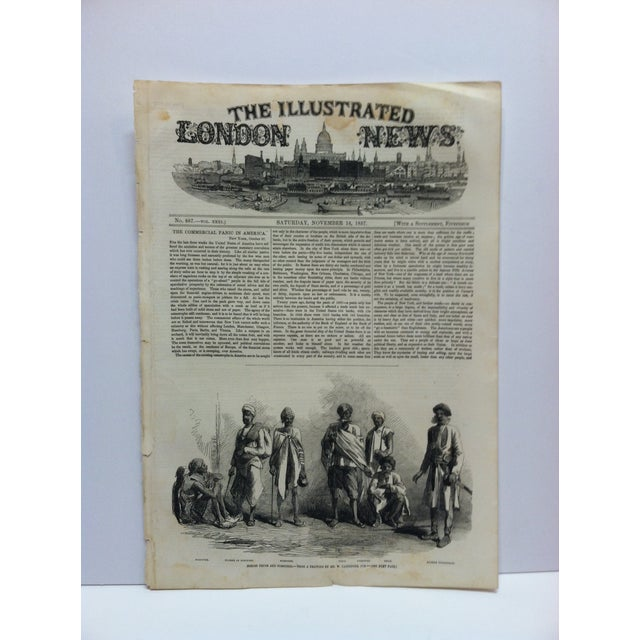 """Mid 19th Century 1857 Antique Illustrated London News """"Hindoo Thugs and Poisoners"""" Print For Sale - Image 5 of 5"""