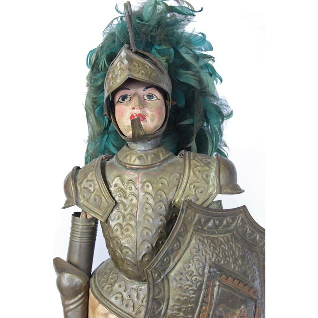 Raspberry Red Pair of Mid-19th Century Sicilian Marionettes For Sale - Image 8 of 11