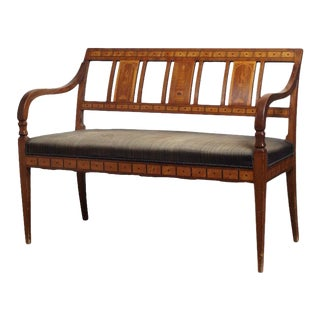 19th Century Danish Empire Settee For Sale