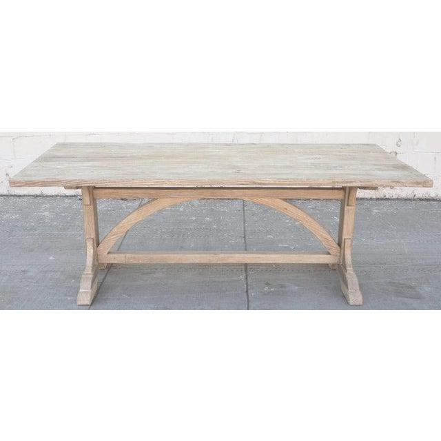 Arts & Crafts Petersen Antiques Heart Pine Expandable Farm Table For Sale - Image 3 of 11