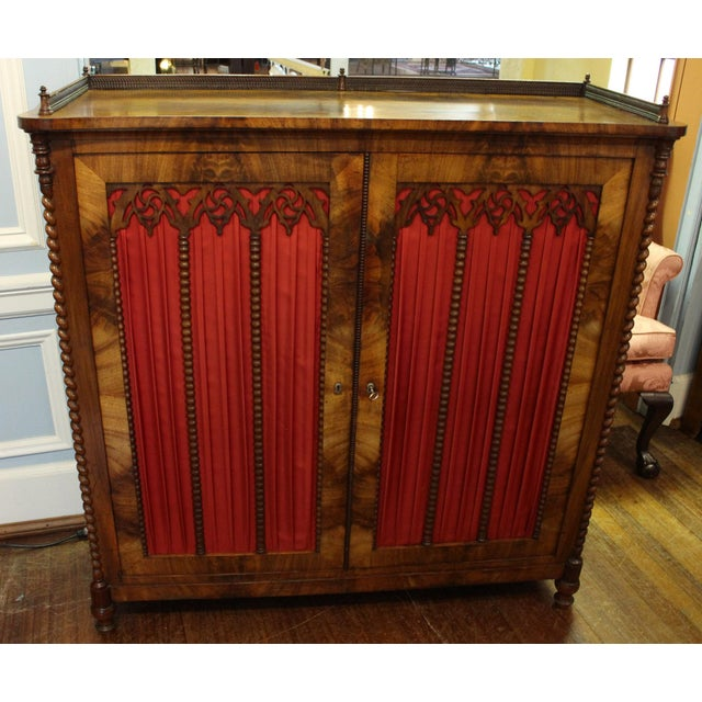 Mid 19th Century Vintage German Gothic Revival Cabinet For Sale - Image 9 of 9