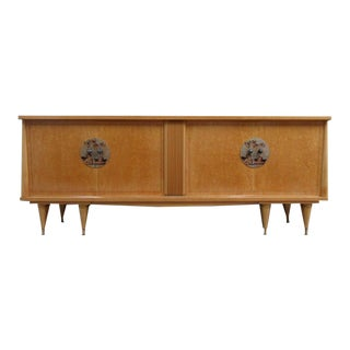 1940s French Art Deco Burl Buffet For Sale