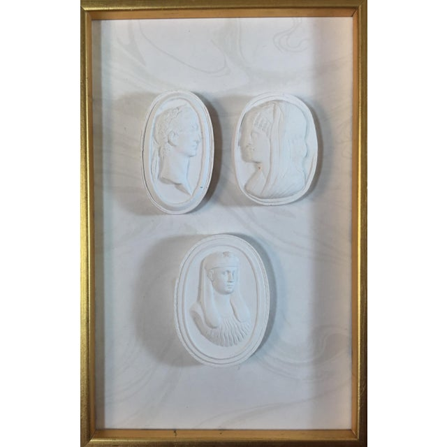 Neoclassical 1920s Neoclassical Framed World Tour Plaster Wall Decoration For Sale - Image 3 of 4