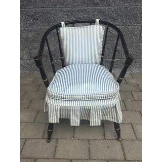 Vintage Black Spindleback Barrel Chair Preview
