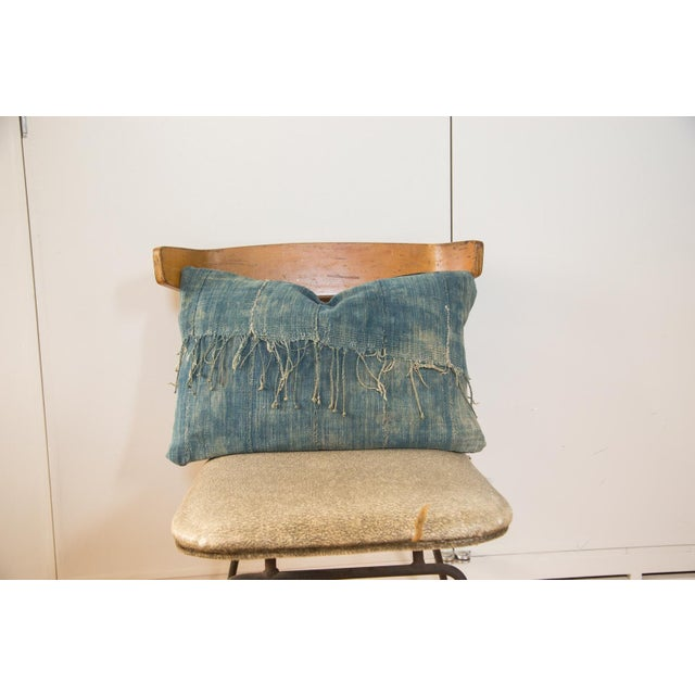 African Indigo Handmade Pillow - Image 2 of 4