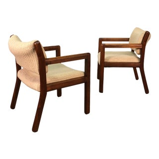 Mid-Century Modern Style Open Arm Dining / Office Chair ~ a Pair For Sale