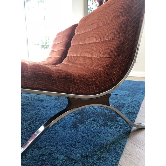 Mid-Century Modern Mid Century Modern Barcelona Style Chairs by Selig- A Pair For Sale - Image 3 of 6