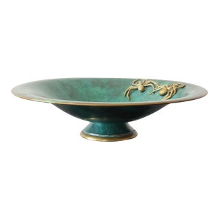 Bronze Centerpiece Bowl With Fruit and Spider Adornments For Sale