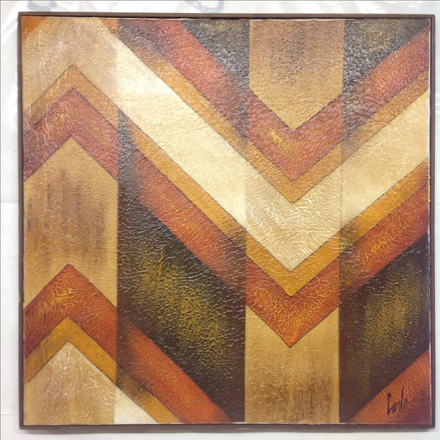Offered is a mid century abstract acrylic on canvas by artist Carlo. We ALWAYS accept reasonable offers. Before it's gone...