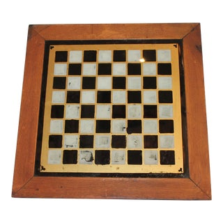 19th Century all Original Reverse Painted Gameboard with Hearts from Arkansas For Sale