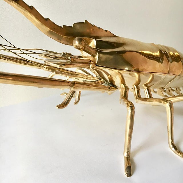 1960s 1960s Italian Cast Bronze Model of a Lobster For Sale - Image 5 of 7