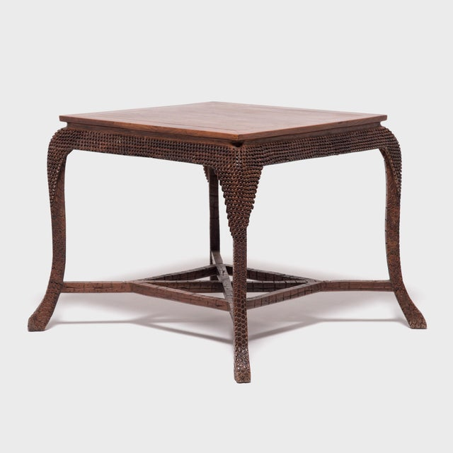 Early 20th Century Dragon Scale Tea Table and Stools For Sale In Chicago - Image 6 of 11