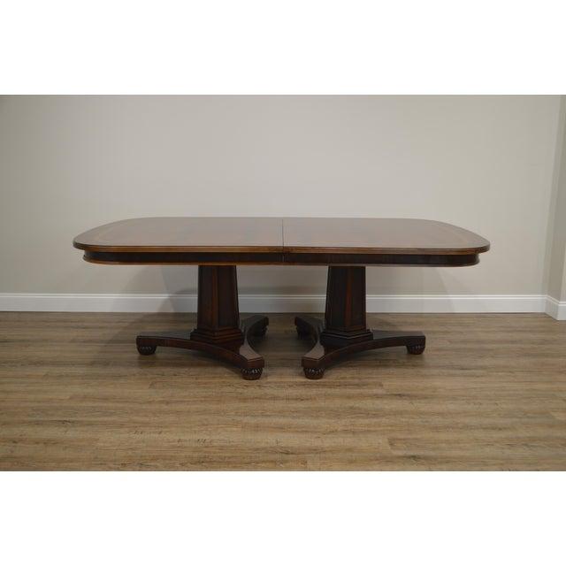Henredon Henredon Historic Natchez Collection Flame Mahogany Regency Dining Table For Sale - Image 4 of 12