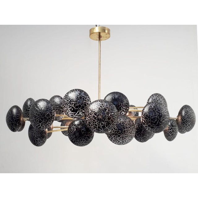 Crackled Globes Chandelier by Fabio Ltd For Sale In Palm Springs - Image 6 of 12