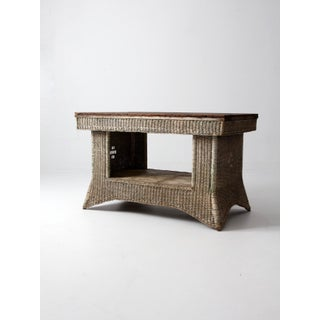 Antique Wicker Library Table Preview
