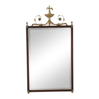 Friedman Brothers Adam Style Mahogany & Gold Mirror For Sale