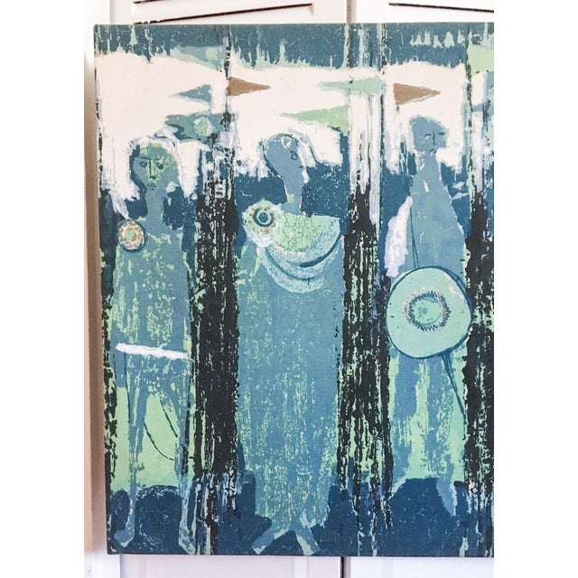The Age of Kings in Blue Textile Art by Tibor Reich For Sale - Image 4 of 11