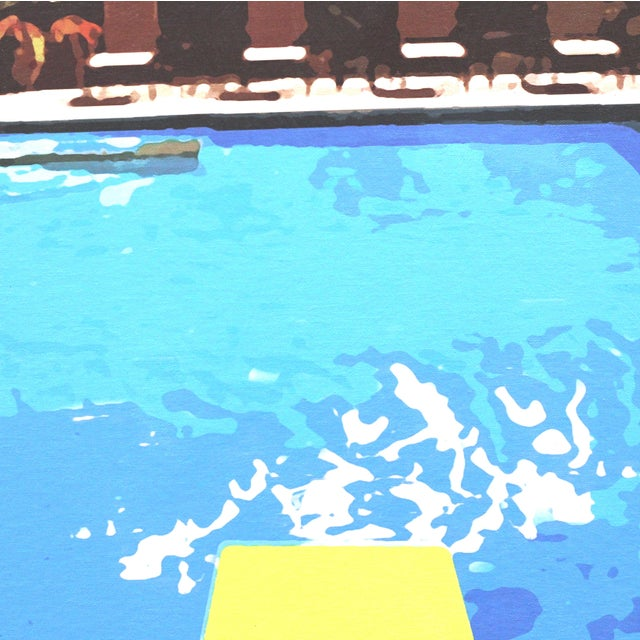 """Swimming Pool"" Acrylic Painting by Michael Giliberti - Image 9 of 10"