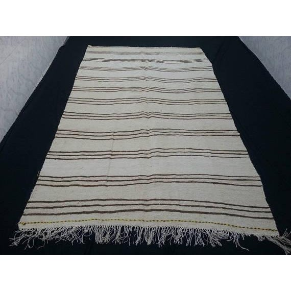 Turkish Anatolian Handwoven Vintage Antique Hemp Rug. From the East part of Turkey.