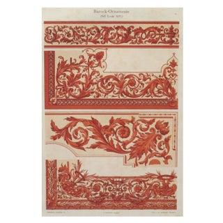 Colorful Decorator Sheet - Crimson C. 1900