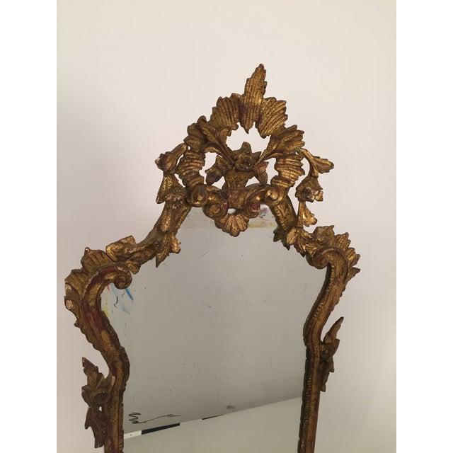 Antique Italian Gothic Gold Leaf Mirror - Image 3 of 11