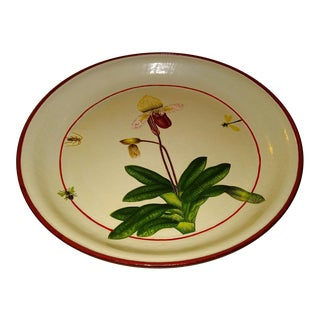 Botanical Tole Painted Tray For Sale