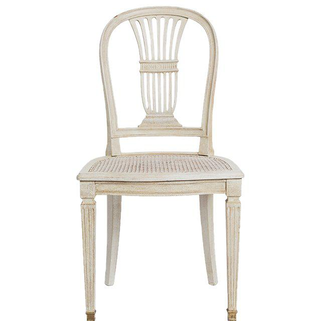 Gustavian Wheat Sheaf Swedish Dining Chairs - Set of 6 For Sale In New York - Image 6 of 8