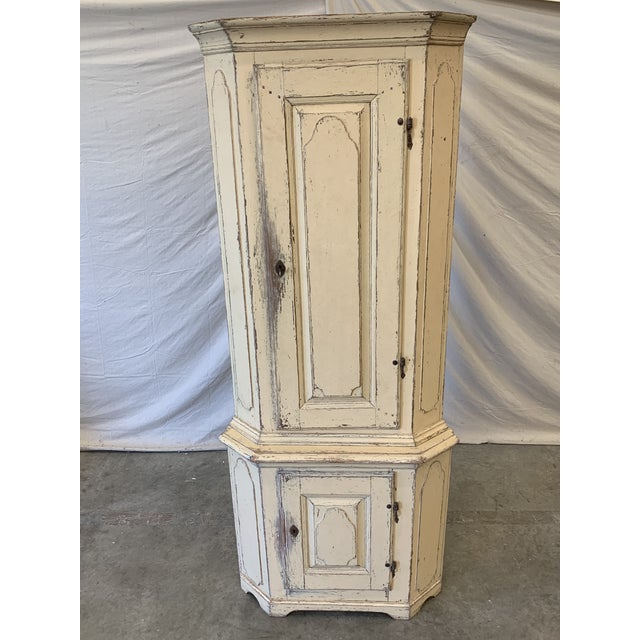 96818ead8625 Swedish Antique Painted Corner Cabinet For Sale - Image 11 of 12