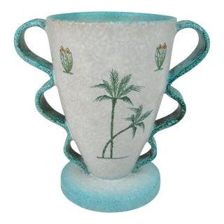 Italian Deruta Ceramic Vase For Sale
