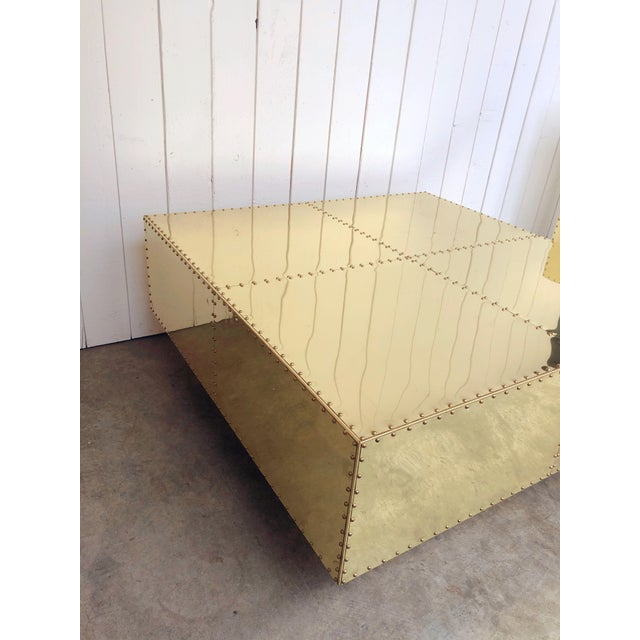 Mid-Century Modern Tiered Sarreid Brass Coffee Table For Sale - Image 3 of 8